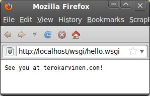 Hello WSGI – Python mod_wsgi on Ubuntu 12 04 LTS & Apache2