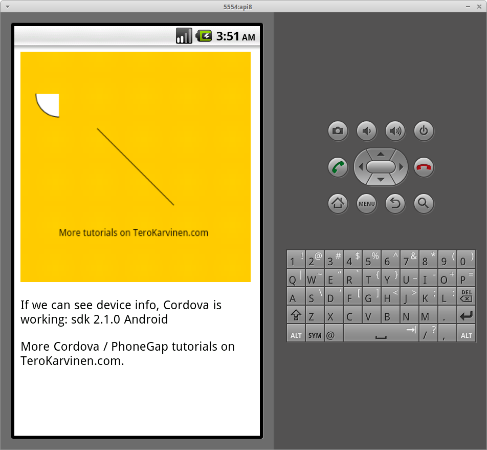 Processing js Graphics in PhoneGap/Cordova – Example for