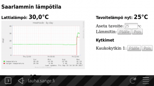 Heat pump UI. Screenshot copyright Osma Suominen.